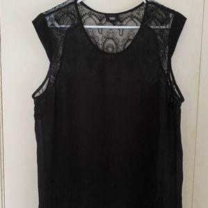 Light weight sheer black blouse